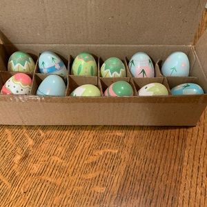 Lillian Vernon Set of Hand Painted Wood Eggs